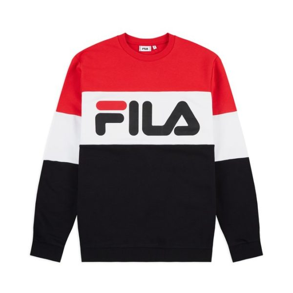 FELPA GIROCOLLO UOMO FILA MEN STRAIGHT BLOCKED CREW