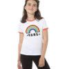 T-SHIRT MANICA CORTA BAMBINO VANS GIRL RAINBOW PATCH