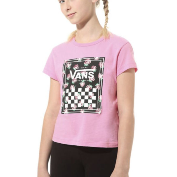 T-SHIRT MANICA CORTA BAMBINO VANS GIRL BOXED ROSE