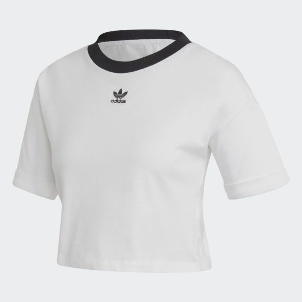 T-SHIRT MANICA CORTA DONNA ADIDAS CROP TOP