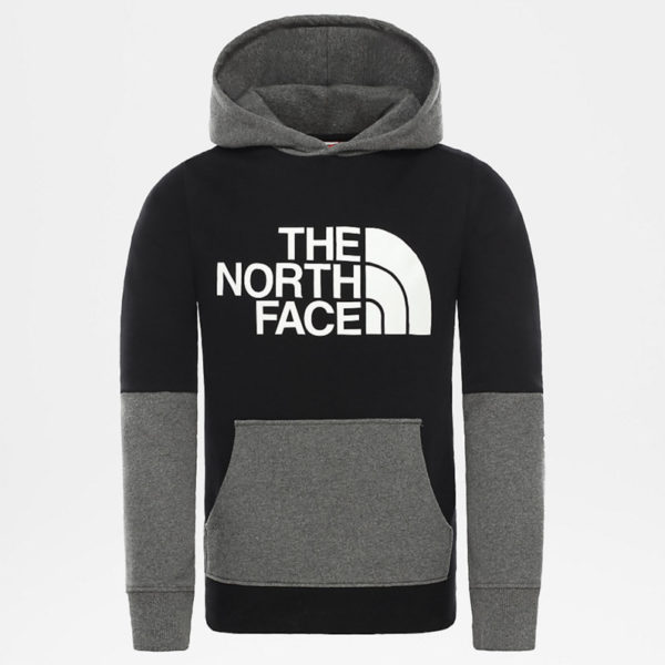 FELPA CON CAPPUCCIO BAMBINO THE NORTH FACE YOUTH DREW PEAK LIGHT BLOCK PLV HOODI
