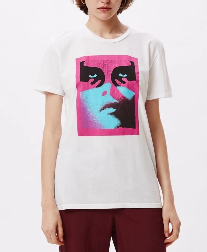 T-Shirt Obey Obey Noir Women Icon Basic Tees