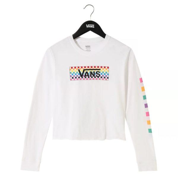 T-Shirt Vans Girl Check Tangle LS Crop