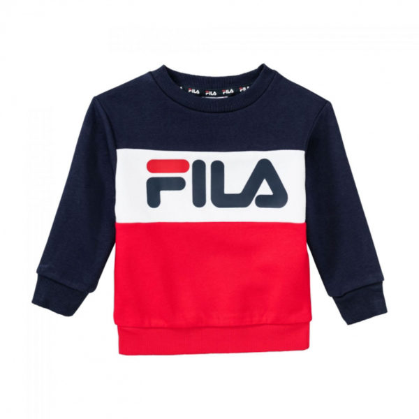 FELPA GIROCOLLO BAMBINO FILA KIDS NIGHT BLOCKED CREW SHIRT