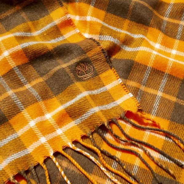 Sciarpa Timberland Plaid Scarf W/Giftbox And Sticker