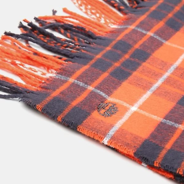 SCIARPA TIMBERLAND UNISEX PLAID SCARF W/GIFTBOX AND STICKER