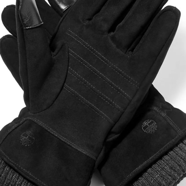 GUANTI UOMO TIMBERLAND LEATHER GLOVE W RIB KNIT CUFF