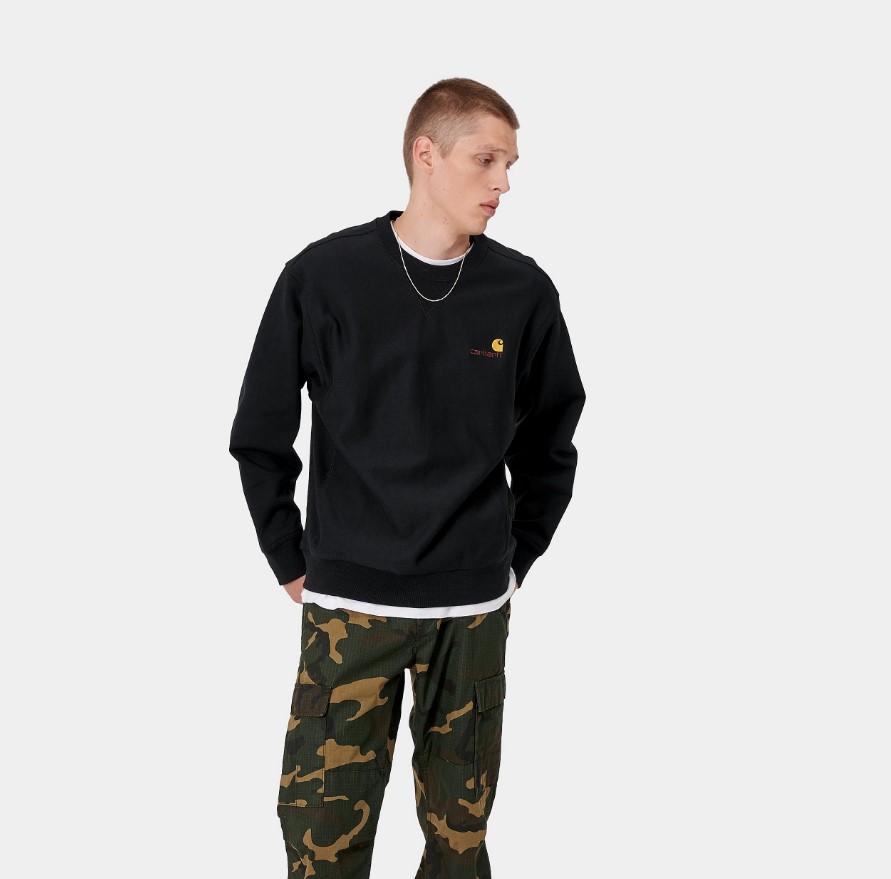 Felpa Carhartt American Script Sweatshirt
