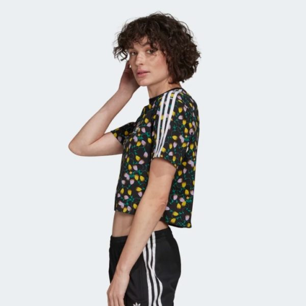 T-SHIRT CROPPED DONNA ADIDAS CROPPED AOP TEE