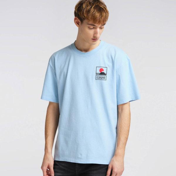T-Shirt Edwin Sunset On Mt. Fuji Ts