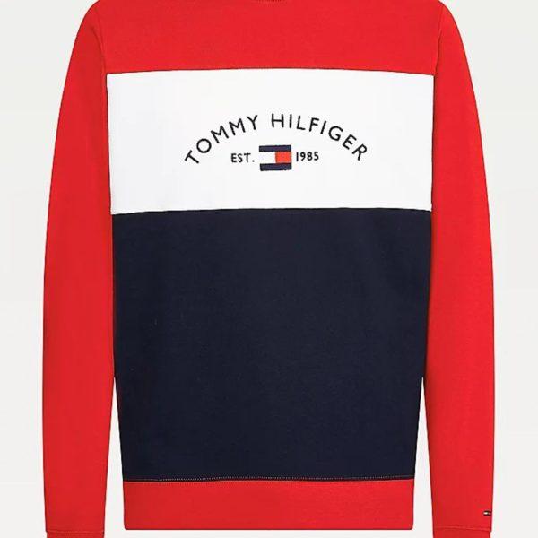 Felpa Tommy Hilfiger Embroidered Signatur