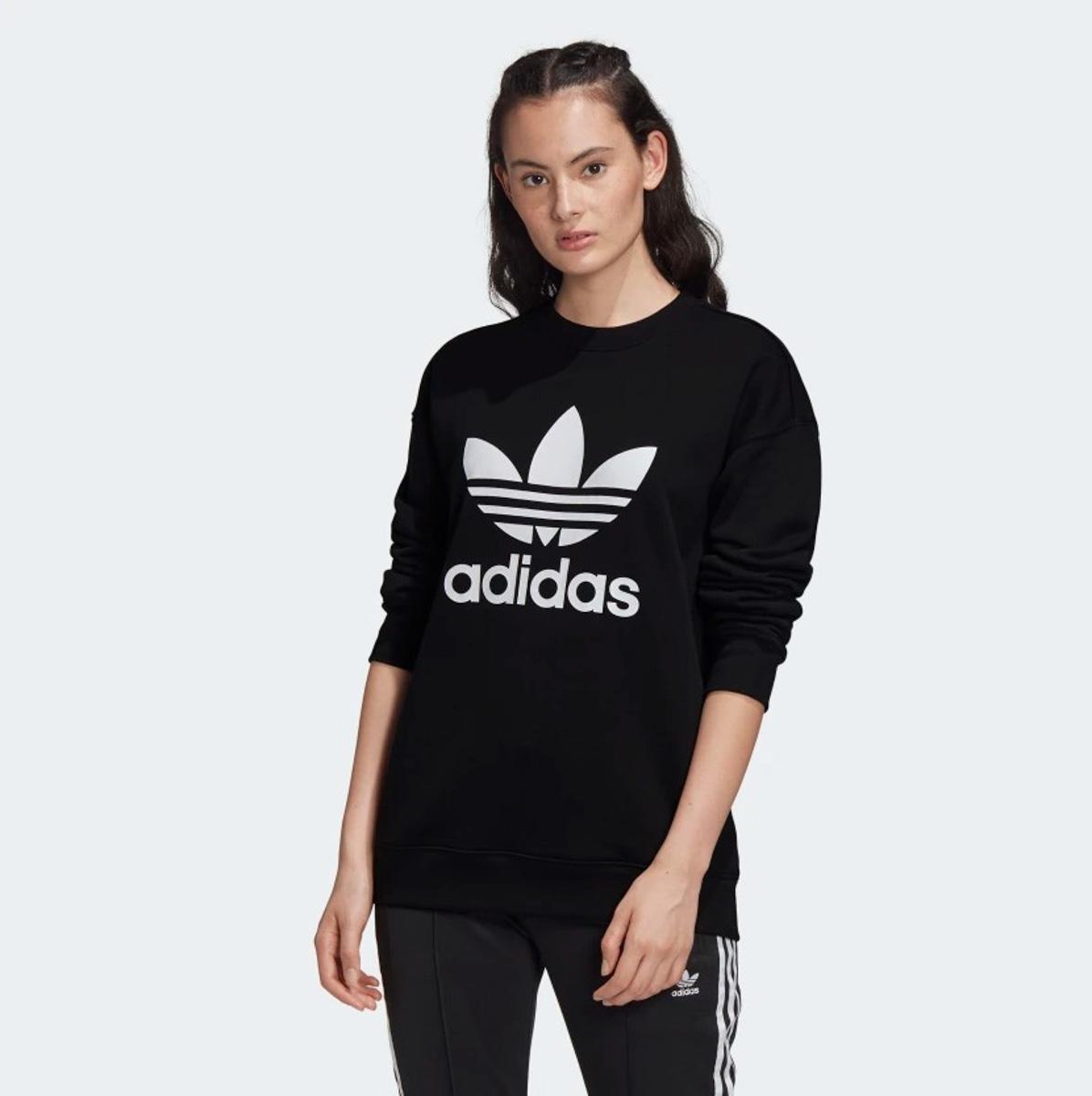 Felpa Adidas Trefoil Crew Sweat