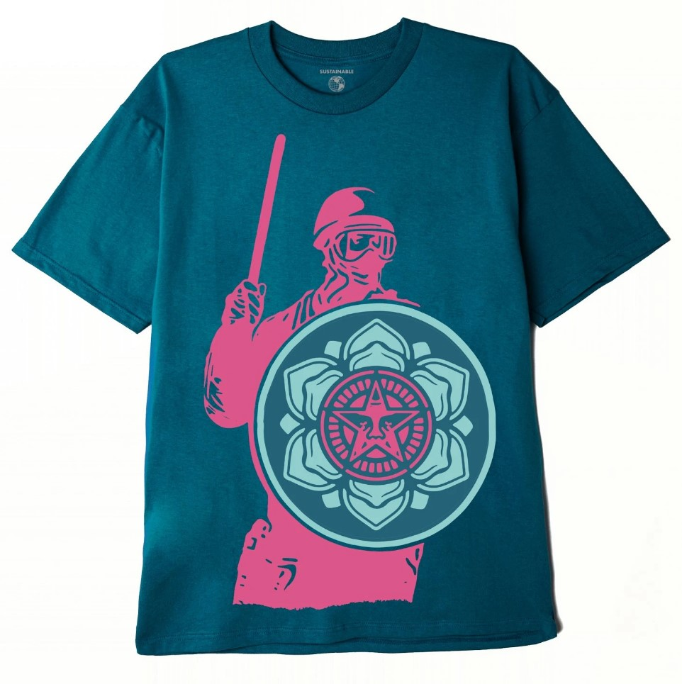 T-shirt Obey Riot Cop Peace Shield