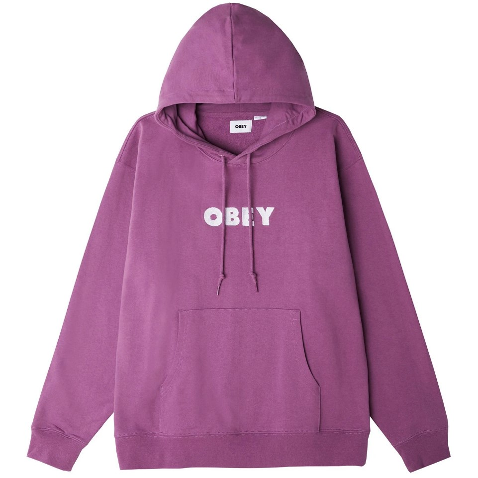 Felpa Obey Logo Hood Specialty Fleece