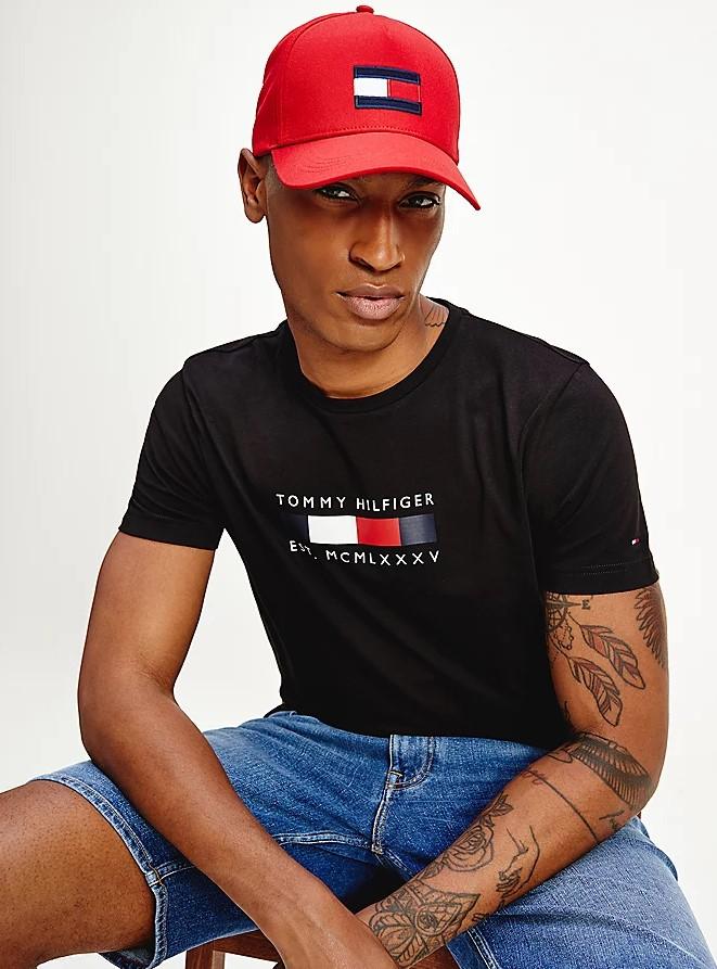 T-shirt Tommy Hilfiger Logo Box Stripe Tee