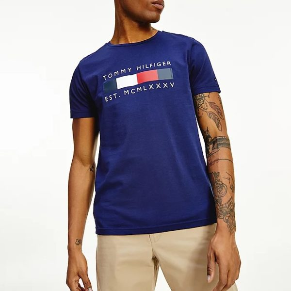 T-shirt Tommy Hilfiger Logo Box Stripe Tee